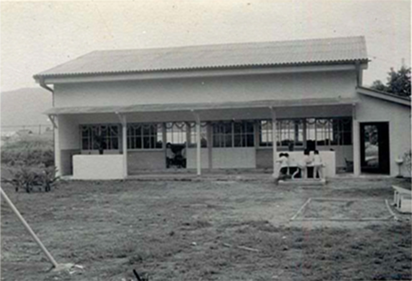 ひかり幼稚園創立当時の木造園舎